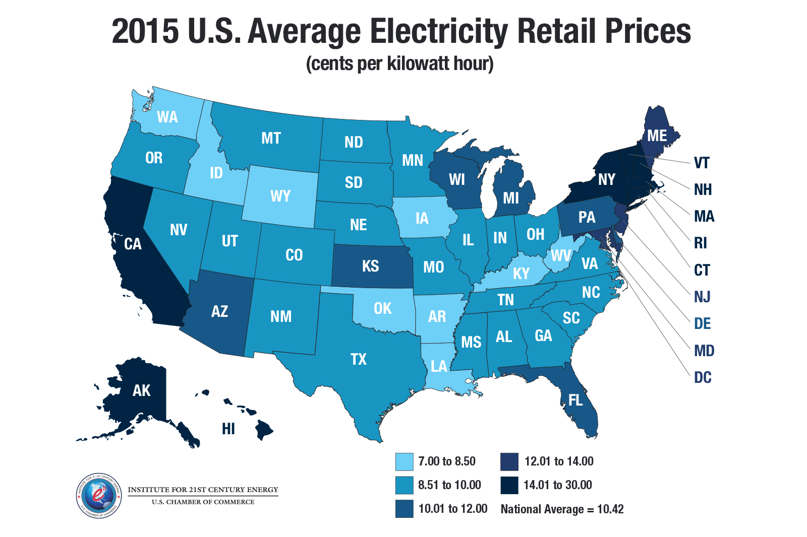 Click Here For A State By Breakdown Of Electricity Rates